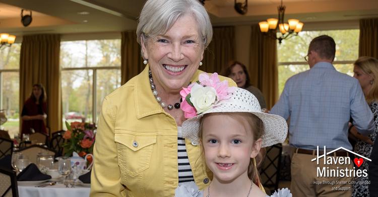 Ellen Finn and her granddaughter High Tea